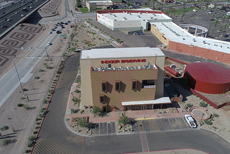 Phoenix Roofing Services Aerial view of the building