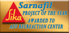 residential roofing Sarnafil project of the year awarded to ASU recreation center