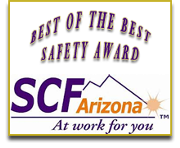 Roofing Phoenix AZ Best of the best safety award SCF Arizona at work for you