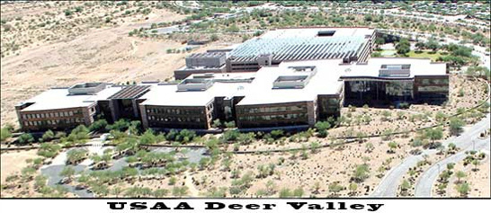 commercial roofing companies in Phoenix Top view of USAA Deer Valley